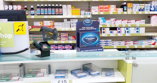 イギリスの店頭においてあるバイアグラ市販薬