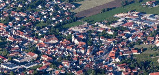ドイツのモンハイムの街並み